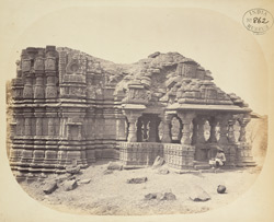 The large temple from the north, Satgaon, Buldana District, Berar 1000333369